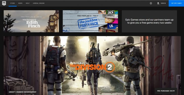 Epic Games Store - Division 2