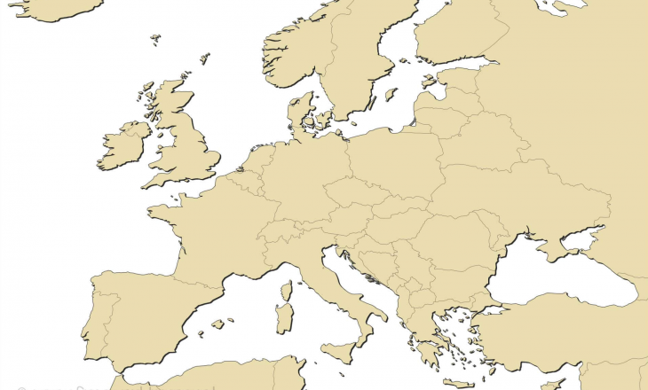 Europe Map Blank