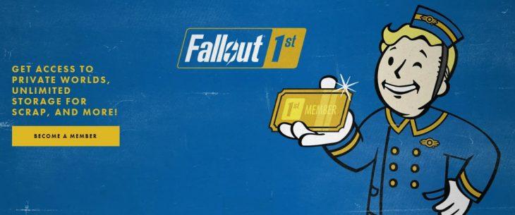 Fallout 1st membership banner