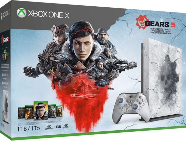 Gears 5 Xbox One X Limited Edition Console - box