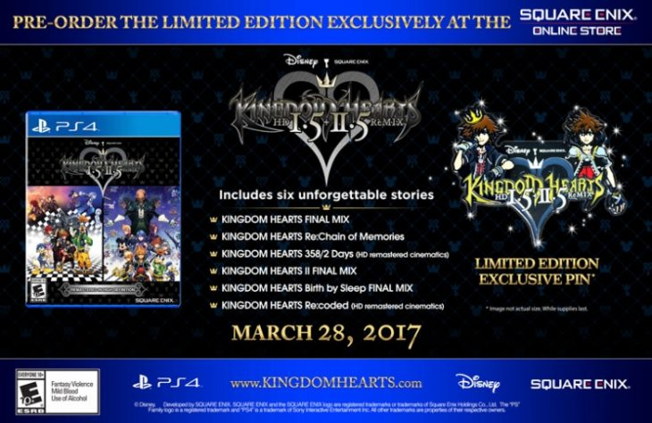 KINGDOM HEARTS HD 1.5 + 2.5 REMIX LIMITED EDITION