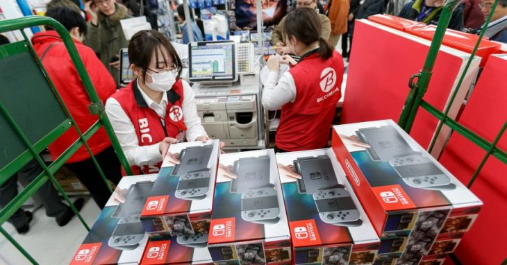 Nintendo Switch Consoles in store