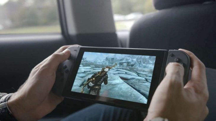 Nintendo Switch on the go