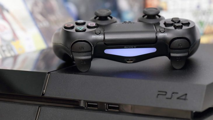 PS4 console and controller
