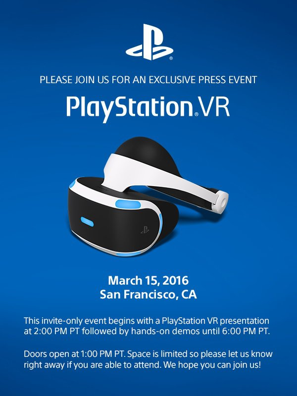 PlayStation VR - Press Conference - 15 March 2016