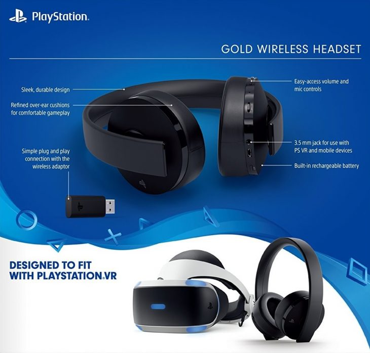 Playstation Gold Wireless Headsets