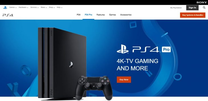 Playstation store selling consoles