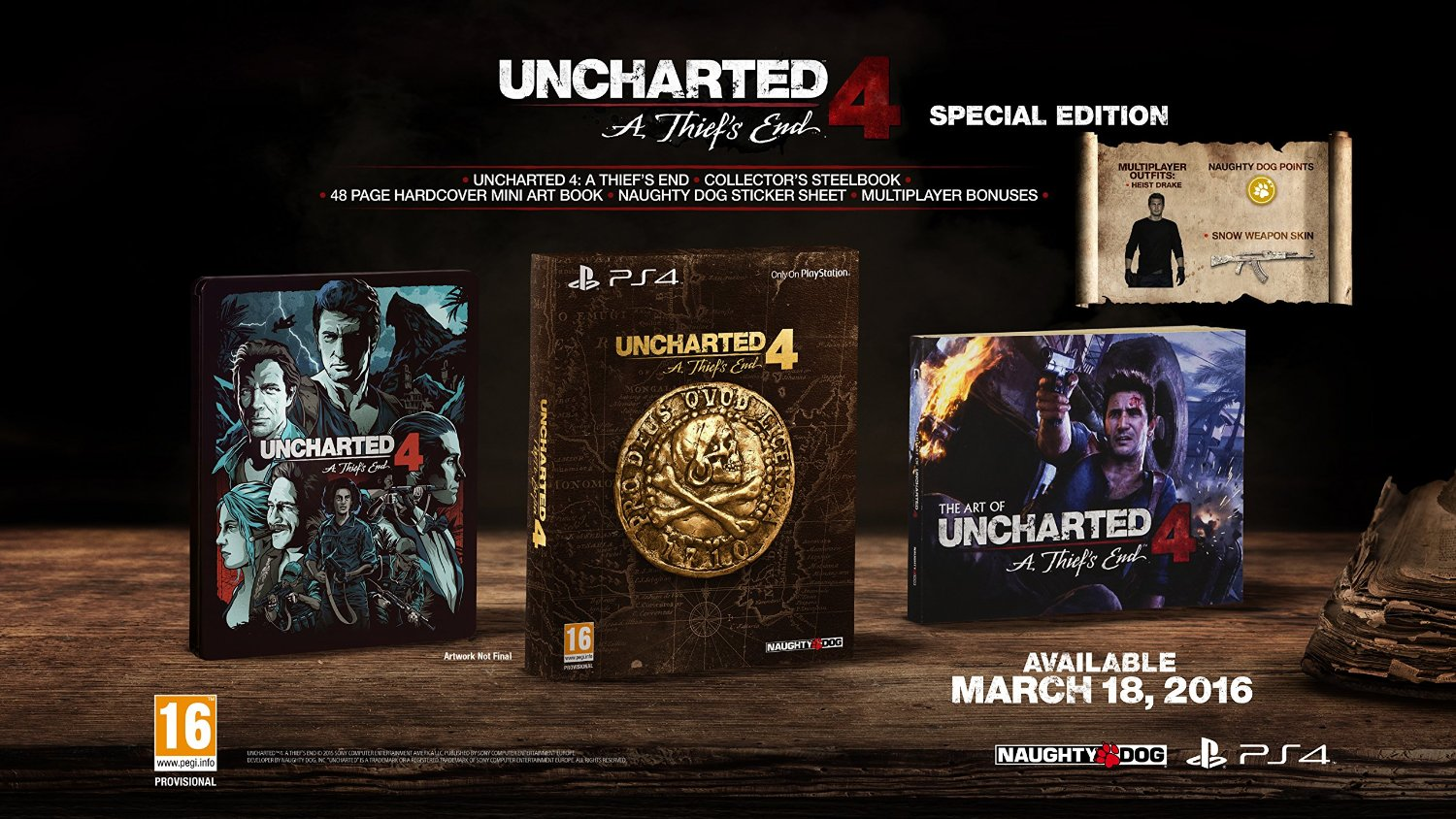 Uncharted 4 A Thief's End - Special Edition - PS4