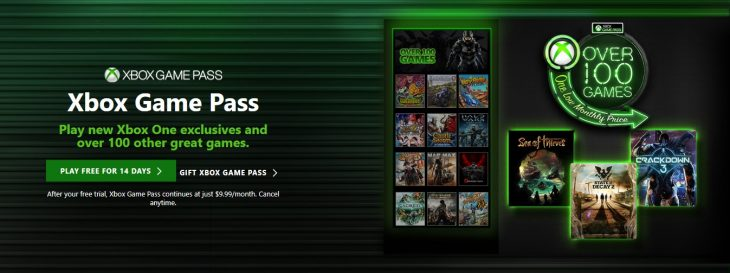 Xbox Game Pass - 100 Games