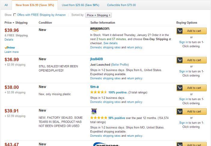 Amazon Sellers List