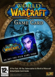 World of Warcraft 60 Day Pre-paid Game Card